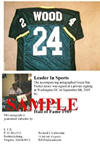 Willie Wood Signed Jersey - Green Bay Packers
