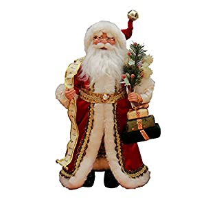 Standing Red Santa Claus Christmas Figure Figurine Decoration 41603