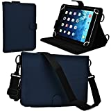 Cooper Cases(TM) Magic Carry Acer Iconia Tab A510 / A511 / A700 / A701 Tablet Folio Case w/ Shoulder Strap in Blue (Premium Pleather Cover, Built-in Viewing Stand, Elastic Hand-Strap and Stylus Holder)