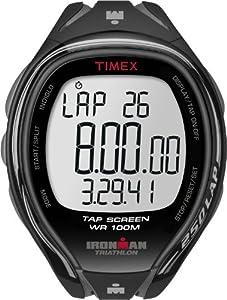 Timex Men's T5K588 Ironman Sleek 250-Lap TapScreen Black/Gray Resin Strap Watch