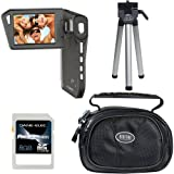 Coby SNAPP Digital HD Camcorder, 8GB SDHC Card, Case and Mini Tripod