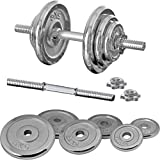 FIELDOOR クロムダンベル 20kg×2個セット (40kg) 【筋力トレーニング/ダイエット/シェイプアップ】