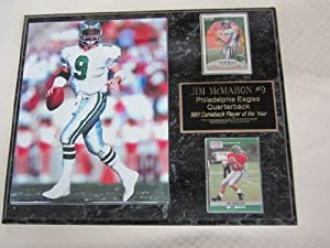 Jim McMahon Philadelphia Eagles 2 Card Collector Plaque w 8x10 Photo by J & C Baseball Clubhouse