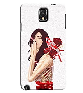 Blue Throat Girl Smoking Hard Plastic Printed Back Cover/Case For Samsung Galaxy Note 3