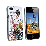 Apple iPhone 4 (AT&T/Verizon) White Autumn Flower Premium Design Slim Fit Rubber Touch Hard Case + Bonus 5.5 inch Baby Blue Screen Cleaning Cloth Reviews