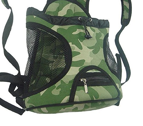 Giftpocket Front Carrier Pet Carrier Adjustable Drawstring Padded Dog Carrier battle fatigues L