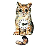 Black Forest Cat's Eye 6-Inch Wide Wall Clock