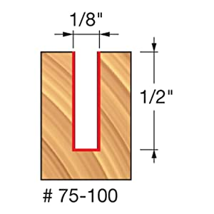 Freud 75-100 1/8-Inch x 1/2-Inch Up Spiral Router Bit 1/4-Inch Shank (Tamaño: Pack of 1)