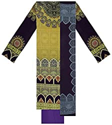 New Look Apparel 4U Women's Velvet Unstitched Suit Material (Multi-Coloured)