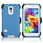 OtterBox Defender Case & Holster for Samsung Galaxy S5 - Deep Water Blue / White