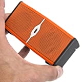 Alpatronix AX400 Ultra Portable Wireless Mini Bluetooth Speaker & Rechargeable Stereo System with Built-In Mic Subwoofer & Speakerphone - Orange/Black