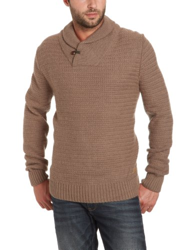 Selected Homme Jeans Bordon shawl neck Men's Jumper Major Brown X-Large