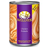 Wellness Complete Health Natural Canned Grain Free Wet Cat Food, Chicken Pate, 12.5-Ounce Can (Pack of 12)