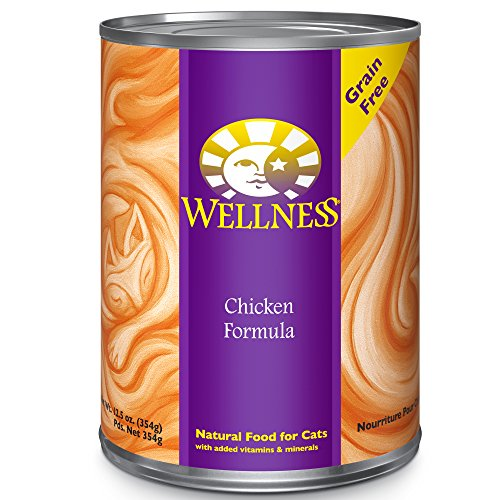 Wellness Complete Health Natural Canned Grain Free Wet Cat Food, Chicken Pate, 12.5-Ounce Can (Pack of 12) (Wet Cat Food Grain Free compare prices)