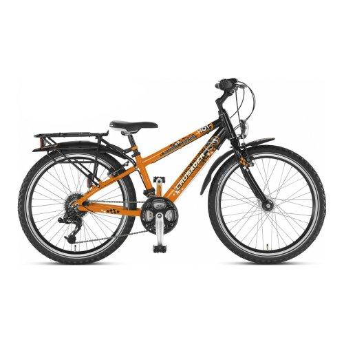 "Mountainbike Racer 24/"" Inch 33 cm Kids 18 Speed Shimano V-Brakes Orange"