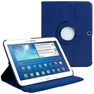 """Stuff4 MR-GT310.1-L360-NB-STY-SP Housse avec rotation à 360° pour Samsung Galaxy Tab 3 10,1"""" (P5200 / P5210) Film de protection et Stylet inclus Bleu Marine"""