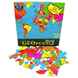 GeoPuzzle World - Educational Geography Jigsaw Puzzle (68 pcs)