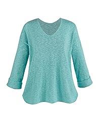 Cotton V-Neck Tunic Sweater