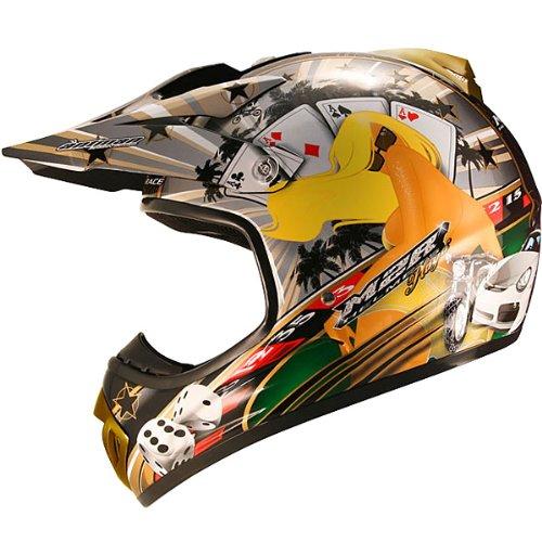 M2R X2.5 Playa PC-9 Helmet ヘルメット ブラック/ゴールド L(59~60cm)
