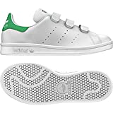 adidas Originals Boys' Stan Smith CF J Sneaker, White/White/White, 4.5 Medium US Big Kid