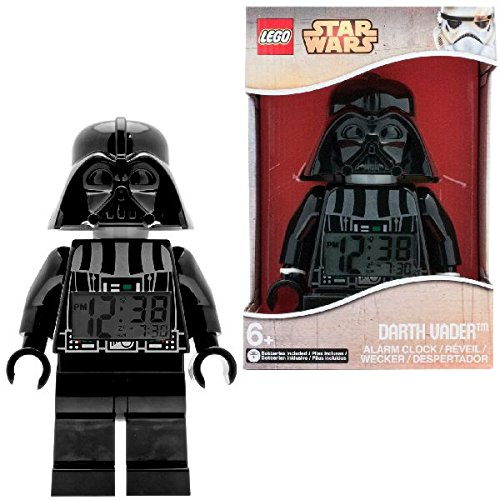 레고 스타 워즈 다스 베이더 알람 시계  LEGO Star Wars Darth Vader Kids Minifigure Light Up Alarm Clock