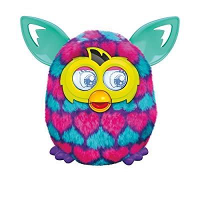Furby Pink and Blue Hearts Boom Plush Toy by Furby