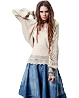 Artka Women's Spring Ethnic Perforated Batwing Cotton Cardigan Sweater YB14055C