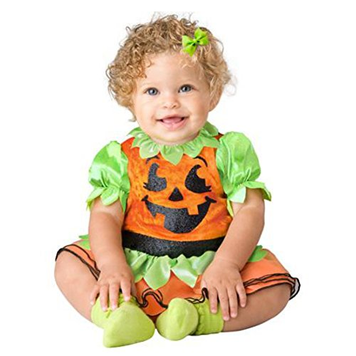In-Character Infant Girls Pumpkin Pixie Costume