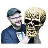 "Giant Skull Halloween Prop 9-1/2""l X 13-1/2""w X 12-1/2""d"