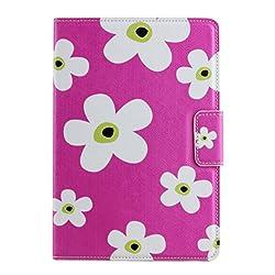 KolorFish iHappy Designer Funky Flower Synthetic Leather Flip Case Cover for Apple iPad Mini, Mini 2, Mini 3