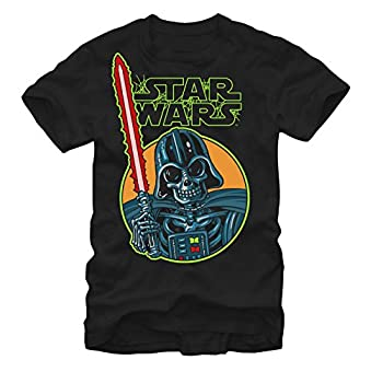 Star Wars Halloween Vader Skeleton Mens Graphic T Shirt