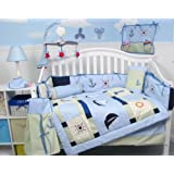 SoHo Baby Sailboat Baby Crib Nursery Bedding Set 13 pcs included Diaper Bag with Changing Pad & Bottle Case ~ SoHo Designs