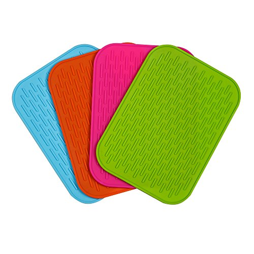 (Super Value Set of 4) High Quality Silicone Trivets / Pot Holder / Coaster / Placemat / Hot Pad (Hot Plates For Table compare prices)