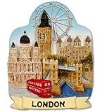 London Skyline Scenic Fridge Magnet Tower Bridge Big Ben Bus London Eye St Pauls Souvenir Gift