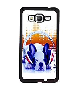 printtech Dog Music Vibe cute Back Case Cover for Samsung Galaxy Grand Prime G530h