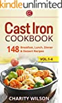 Cast Iron Cookbook: 148 Breakfast, Lu...