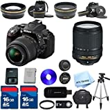 Nikon D5300 24.2 MP CMOS Digital SLR with 18-140mm f/3.5-5.6G ED VR Lens ALS VARIETY Premium Lens Kit + 2 High Speed 16GB Memory Cards + 9pc Bundle - International Version