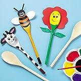 Holzlöffel für Kinder zum Basteln von Figuren - zum...