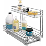 Lynk Professional 451121 11-by-21-by-14-Inch Roll-Out Chrome Under-Sink Drawer