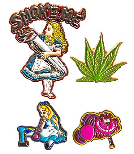 Custom Set of Four Collectible Heady Smoke Pins 420