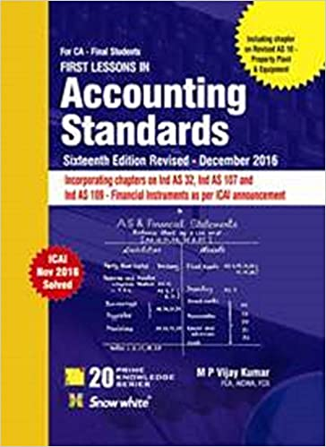 Accounting Standards Book for CA FINAL - by MP Vijay Kumar