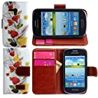 Harryshell Wallet Leather Carrying Case Cover With Credit ID Card Slots/ Money Pockets for Samsung Galaxy Mini S3 S3mini(not S3) I8190 (color 4)