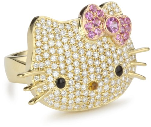 "Hello Kitty by Kimora Lee Simmons ""Simply Kitty"" Ring, Size 7"