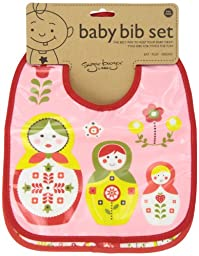 Sugarbooger Mini Bib Gift Set, Matryoshka Doll, 2 Count