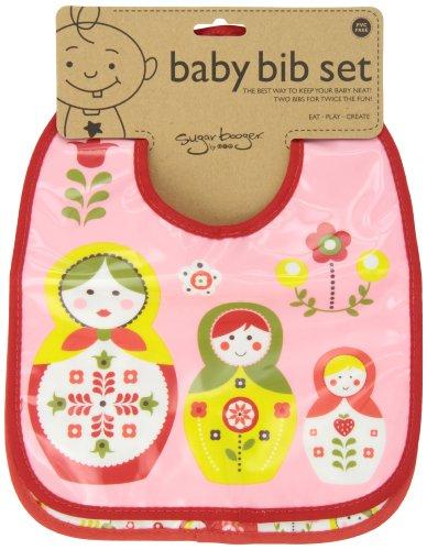 Sugarbooger Mini Bib Gift Set, Set of 2, Matryoshka Doll