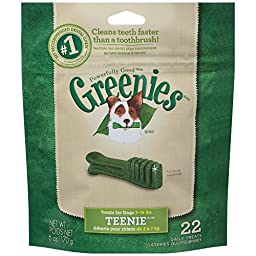 GREENIES Dental Dog Treats, Teenie, Original Flavor, 22 Treats, 6 oz.