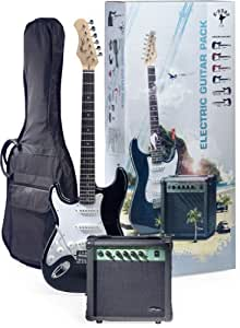 Stagg ESURF 250LHBK US Surfstar Left Handed Electric Guitar and Amplifier Package - Black