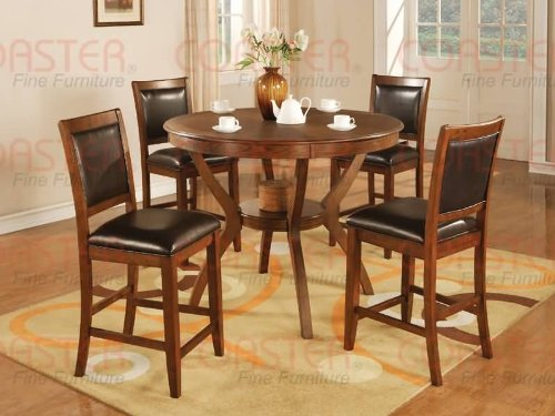Buy Low Price Coaster Counter Height Dining Table in Brown Walnut Finish (VF_102178)