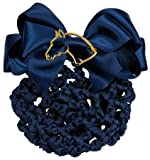 Hairnet With Brooch - Blue With Gold Horse Head