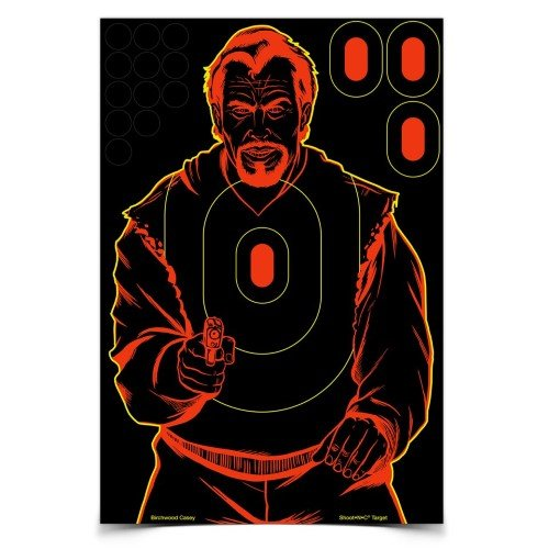 Birchwood Casey Shoot-N-C Bad Guy Silhouette Target (Pack Of 12), 12 X 18-Inch, Pink